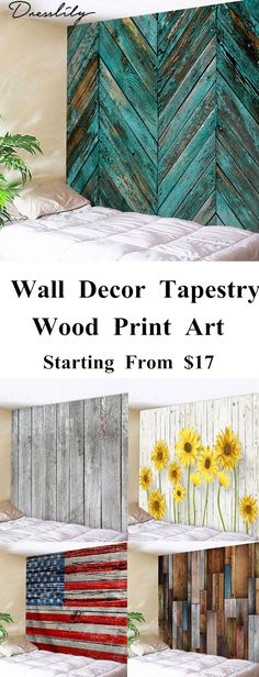 Wall Hanging Art Wood Board Print Waterproof Tapestry. - Lightweight and versatile tapestries are durable - An easy way to revive your decor and add a good perspective - Multipurpose item can be used as the tapestry wall hanging, bed cover, table cover, college dorm room wall hanging etc. #tapestry#walldecor#wallart#homedecor#dresslily