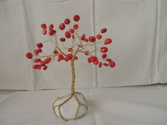 Your place to buy and sell all things handmade White Pebbles, Wire Trees, Tree Tree, Unique Baby Gifts, Tree Sculpture, Handmade Wire, Baby Room Decor, Red Coral, Tree Of Life