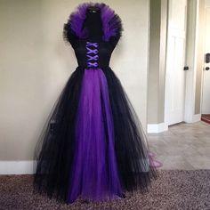 Floor Length Maleficent Tutu Dress by ThePaintedPinwheel on Etsy