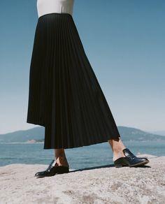 """I'm really loving this Y's by Yohji Yamamoto asymmetrical pleated skirt this season."""