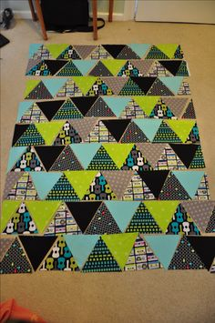 Triangle Quilt tutorial- a different way to arrange triangles