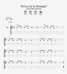 """""""El Eco de la Montaña"""" Partitura para ukelele, niv..."""
