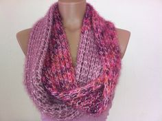 Pink infinity scarf by Arzus on Etsy