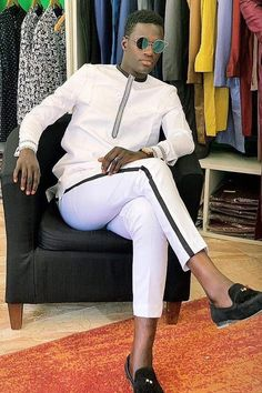 African Shirts For Men, African Dresses Men, African Attire For Men, African Clothing For Men, African Wear, African Inspired Fashion, African Men Fashion, Mens Fashion Suits, Fashion Wear