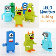 Here's a fun LEGO® building challenge!  Create silly monsters.  We've got building instructions for two of the monsters in the post, which should jump start all kinds of creative constructions. The great part is that kids can build these monsters however they want with whatever pieces they have on hand. Great challenge for a LEGO® club! This post contains Amazon affiliate links. We have been on a LEGO® kick lately since we're so excited about the fact that our second LEGO® project...