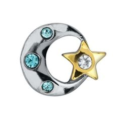 Now Available!!!! Moon and Star Charm for floating locket. All profits from the Brown Bear Remembers store go toward helping survivors of domestic and sexual violence. Make a difference in someones life. $1.00