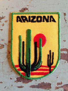 Arizona Vintage Travel Patch by HeydayRetroMart on Etsy