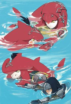 The Legend Of Zelda, Legend Of Zelda Memes, Legend Of Zelda Breath, Image Zelda, Sidon Zelda, Game Character, Character Design, Princesa Zelda, Botw Zelda
