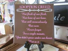 Adoption Creed in different colors $24
