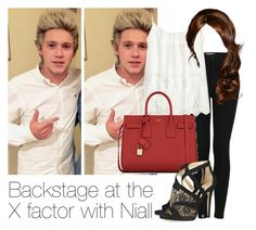 """REQUESTED: Backstage at the X Factor with Niall"" by style-with-one-direction ❤ liked on Polyvore featuring moda, Topshop, Velvet, Yves Saint Laurent, Jimmy Choo, women's clothing, women's fashion, women, female y woman"