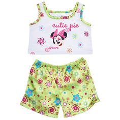 Build a Bear Clothing - New - Disney Minnie Mouse Cutie Pie Pajama Set - 2 Pc. Teddy Bear Clothes, Pet Clothes, Doll Clothes, American Girl, Custom Teddy Bear, Giant Stuffed Animals, Build A Bear Outfits, Online Gift Shop, Baby Alive