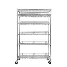 Trinity EcoStorage 6-Tier NSF 48 in. x 18 in. x 77 in. Shelving Rack with Wheels in Chrome-TBFC-0907 at The Home Depot