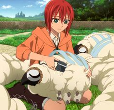 """It's shearing season. Chise Hatori, Manga Anime, Anime Art, Best Romance Anime, Yume, The Ancient Magus Bride, Gifs, Cute Anime Pics, Best Waifu"