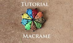 aros de flor multicolor en macrame | artemanual
