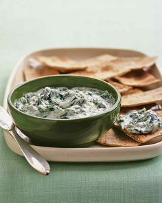In an otherwise traditional tzatziki, Swiss chard stands in for cucumber, adding a wealth of nutrients; whole-wheat pita wedges bring fiber to the…