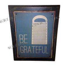 Kitchen sign Be Grateful sign Perfect by CreateMoreSleepLess, $25.00