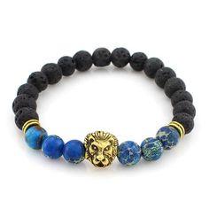 Lava Stone Onyx New Buddha Bracelets