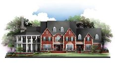 House Plan 72127 | Colonial   Greek Revival    Plan with 5745 Sq. Ft., 4 Bedrooms, 6 Bathrooms, 3 Car Garage