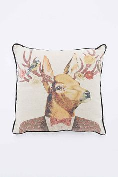 Earl Street Deer Cushion - Urban Outfitters