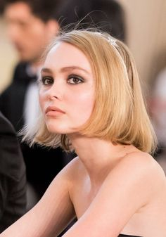 Model and heir to acting royalty Lily Rose Depp. (Daughter of Johnny Depp). Seems like everyone says she looks just like her mom but I think she looks way more like her dad. Same dark eyes and gorgeous facial features for sure. But her coloring is all her Mom's.