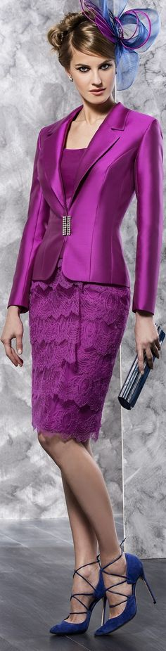 Classic with a Romantic touch on the skirt for a Winter