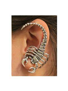 Scorpion Ear Wrap Silver Scorpion Ear Cuff Scorpion by martymagic