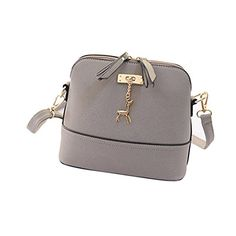 Outtop Women Messenger Bags Vintage Small Shell Leather Handbag Casual Bag (D)