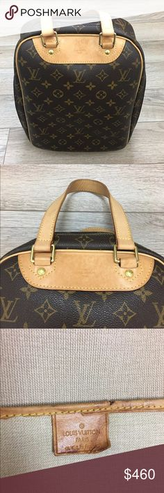 """Auth LOUIS VUITTON Monogram Excursion Bag VI 1917 Auth LOUIS VUITTON Monogram Canvas Leather Excursion Hand Bag Purse VI 1917 some marks on inside and tears on inside leather. Outside in amazing condition.    Measurements  Handle Drop 5.5"""", Height 12.5"""", Width 10.25"""", Depth 5"""" Louis Vuitton Bags"""
