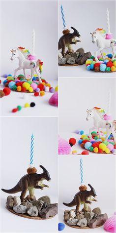DIY Geburtstagskerze für Kinder, Kindergeburtstag Ideen basteln, Dinogeburtstag, Einhorn Geburtstag