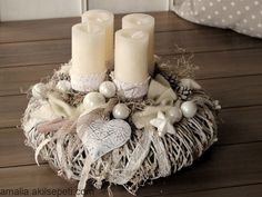 All Details You Need to Know About Home Decoration - Modern Advent Wreath Candles, Christmas Advent Wreath, Christmas Mood, Christmas Countdown, Christmas Decorations, Xmas, Holiday Crafts, Holiday Decor, Easter Wreaths