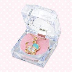 New Little Twin Stars Necklace with A Cace RARE Sanrio Japan Kiki Rara | eBay