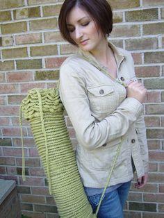 Ruffled Yoga Mat Bag Crochet PDF Pattern by ahimsahousedesigns, $4.99