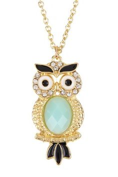 Mint Owl Necklace