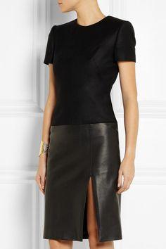Alexander McQueen wool blend and flannel black dress