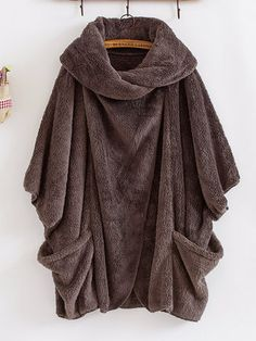 Trendy Gracila Casual Turtleneck Big Pockets Women Cloak Coats Online - NewChic Mobile
