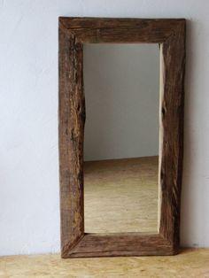 Wandspiegel - Spiegel aus historischen Eichenbalken, etwas kleiner