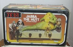 Vintage Star Wars 1983 Jabba The Hutt Action Playset Kenner 70490 for sale online Jabba The Hutt, Early 90s Toys, Starwars, Star Wars Galactic Heroes, Jabba's Palace, Star Wars Action Figures, Star Wars Toys, Cool Toys, Vintage Toys