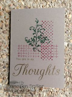by Jennifer Spiller, Independent Stampin' Up! Demonstrator Jan 7, 2016 in Global Design Project Timeless Texture, sentiment from Mint Owl Studio
