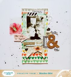 #papercraft #scrapbook #layout - MonaGee scrapbooking: April Moodboard and short tutorial