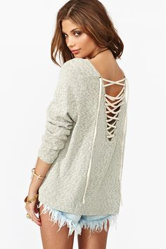 I could do this but better to an old sweater. Maybe add a little lacing to the sleeves as well.