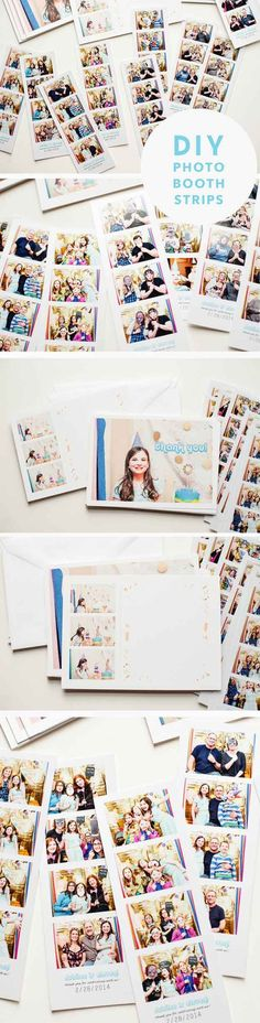 Easy DIY Photo Booth Ideas | DIY Photo Booth Strips by DIY Ready at http://diyready.com/20-diy-photo-booth-ideas/