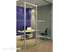 From Glass At Work: 30/00 to 30/30 Fire Rated Frameless Glass Partitioning