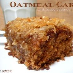 Oatmeal Cake with Coconut Topping by JoyouslyDomestic