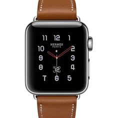 Pre-owned Apple Watch ($1,615) ❤ liked on Polyvore featuring jewelry, watches, brown, hermes watches, preowned jewelry, hermès, brown watches and pre owned watches