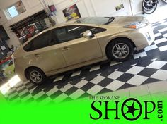 This is such a beautiful color for a car!! I absolutely LOVE this shade of gold, especially on a this body ;) The Spokane SHOP applied Window Tinting Film on the Prius.