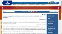 Documentos y plantillas para la elaboración de programaciones didácticas en 1º, 3º y 5º de Primaria | Portal de Educación de la Junta de Comunidades de Castilla - La Mancha