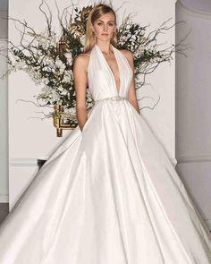 Legends Romona Keveza Fall 2017 Wedding Dress Collection | Martha Stewart Weddings – Halter-neckline ball gown wedding dress
