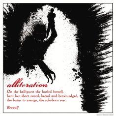 Literary Techniques: Alliteration Art Print