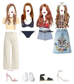 """""""Karen's vacation fashion"""" by xxeucliffexx ❤ liked on Polyvore featuring Topshop, Brock Collection, Gucci, STELLA McCARTNEY, Tommy Hilfiger, Sans Souci, Gianvito Rossi, Lime Crime, Vans and Natalie B"""