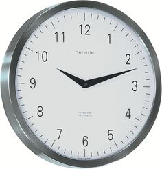 Hermle - Stainless Steel, Quartz, Convex Glass, Metropolitan 30466002100 - The Well Made Clock 3d Wall Clock, Pendulum Wall Clock, Wall Clock Online, London Clock, How To Make Wall Clock, Clock Parts, Steel Wall, Steel Frame, Stainless Steel